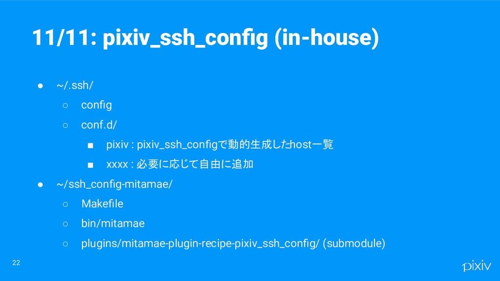 22 ● ~/.ssh/ ○ config ○ conf.d/ ■ pixiv : pixiv_...