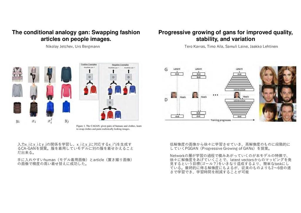 低解像度 画像 徐々 学習 せ い 高解像度 も 段階的 し いくPGGAN Progress...