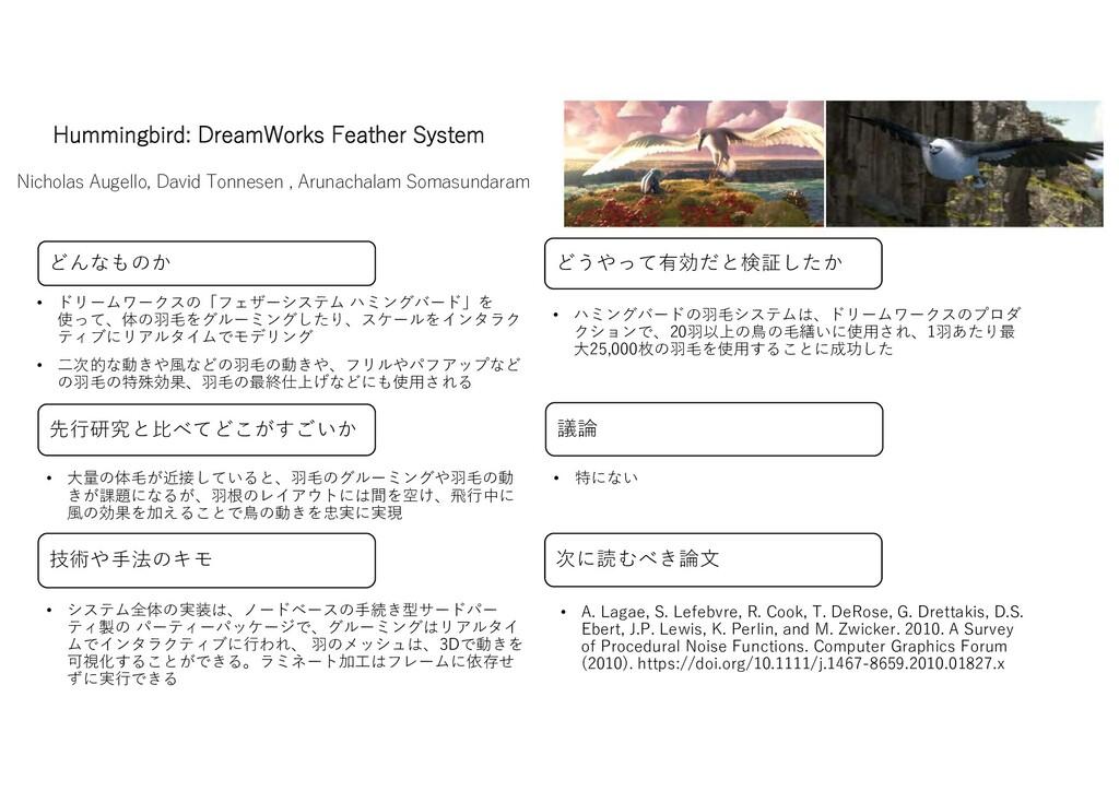 Hummingbird: DreamWorks Feather System Nicholas...