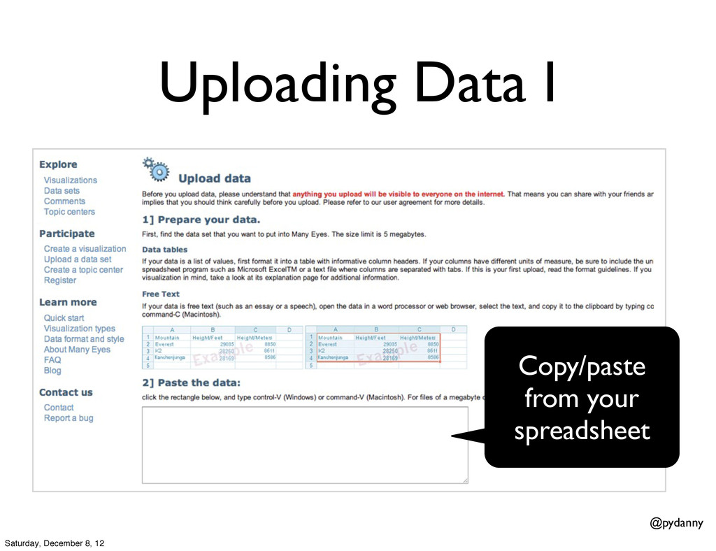 @pydanny Uploading Data I Copy/paste from your ...