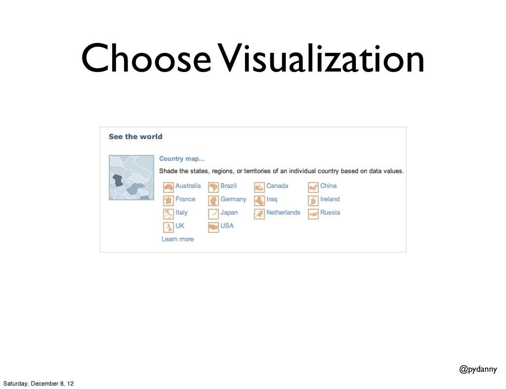 @pydanny Choose Visualization Saturday, Decembe...