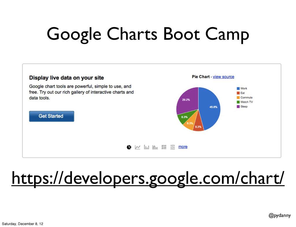 @pydanny Google Charts Boot Camp https://develo...