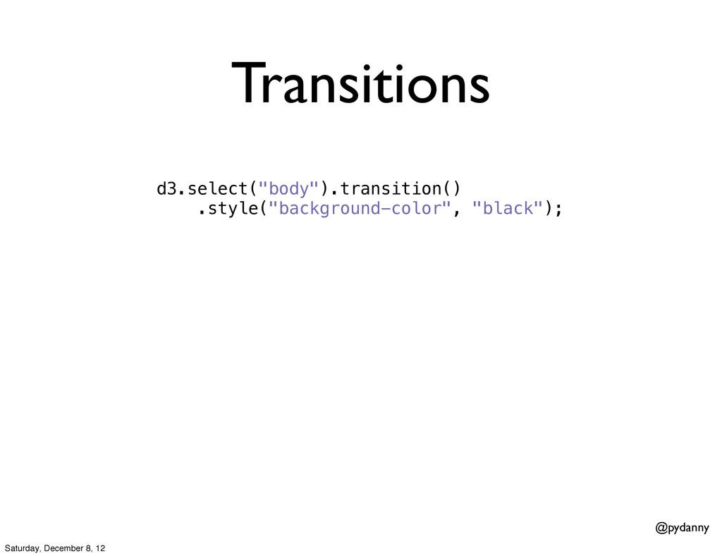 """@pydanny Transitions d3.select(""""body"""").transiti..."""