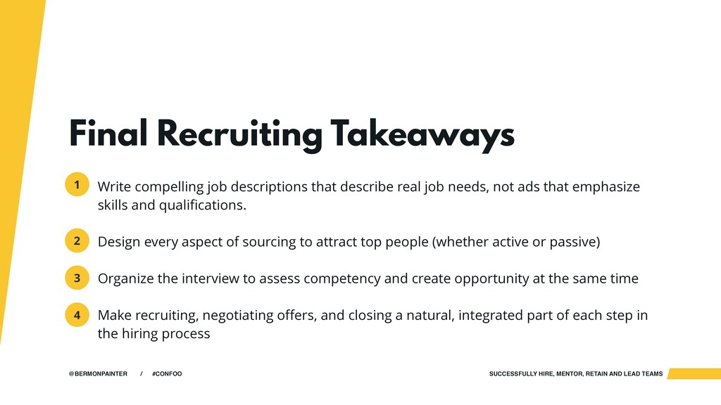 SUCCESSFULLY HIRE, MENTOR, RETAIN AND LEAD TEAM...