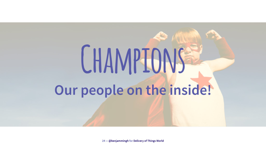 Champions Our people on the inside! 24 — @benja...