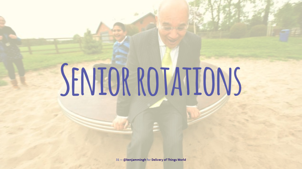 Senior rotations 31 — @benjammingh for Delivery...
