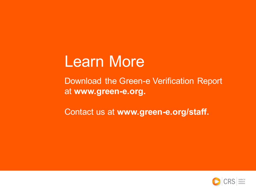 Download the Green-e Verification Report at www...