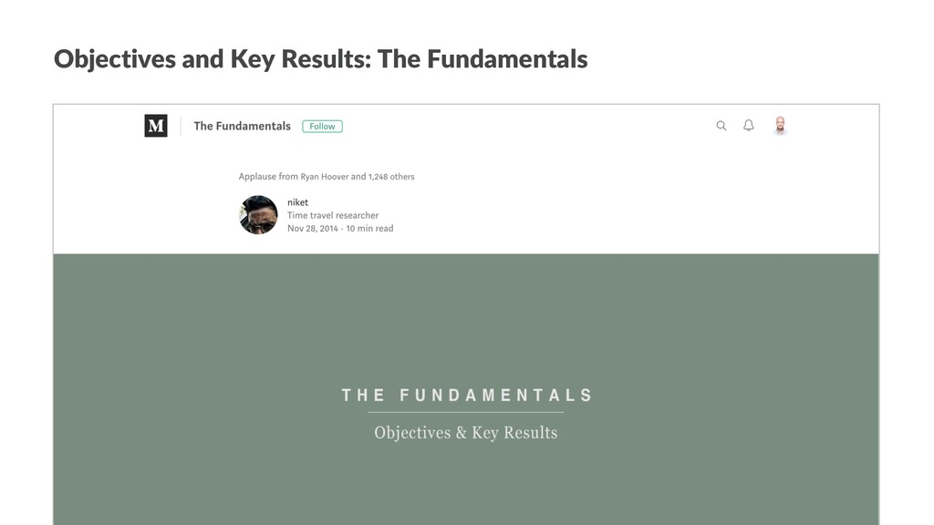 Objectives and Key Results: The Fundamentals