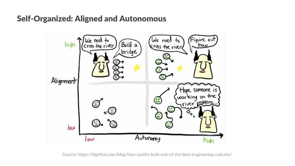 Self-Organized: Aligned and Autonomous Source: ...