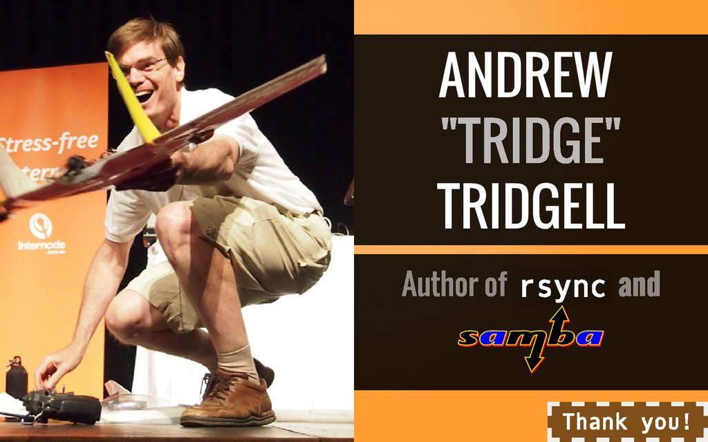 """ANDREW TRIDGELL r s y n c """"TRIDGE"""" Author of an..."""