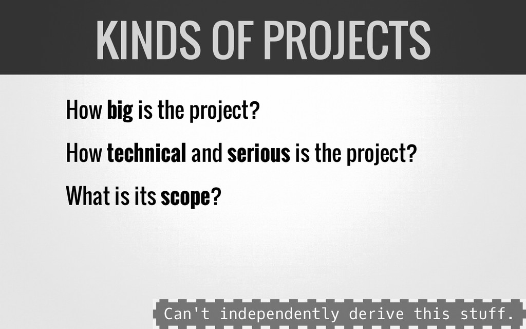 How big is the project? How technical and serio...