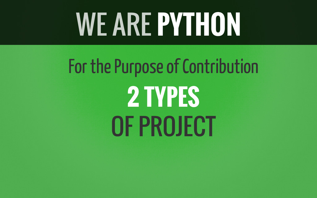 For the Purpose of Contribution 2 TYPES OF PROJ...