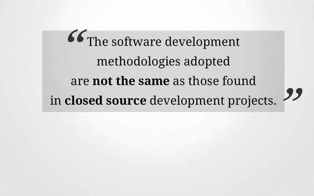 The software development methodologies adopted ...