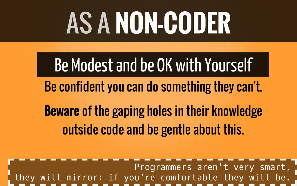 Be Modest and be OK with Yourself Be confident ...