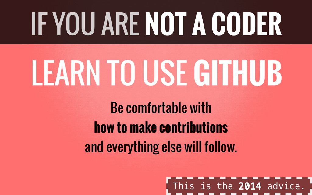 LEARN TO USE GITHUB Be comfortable with how to ...