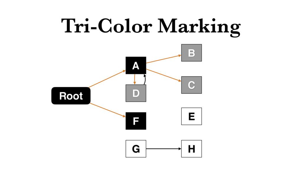 Tri-Color Marking Root H G F C B D A E