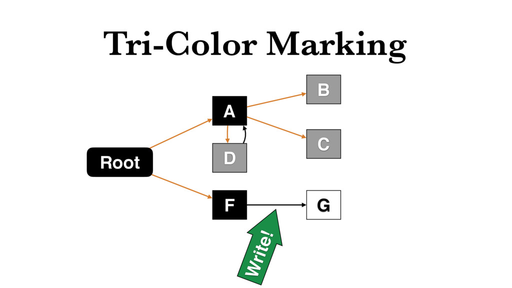 Tri-Color Marking Root F C B D A G Write!