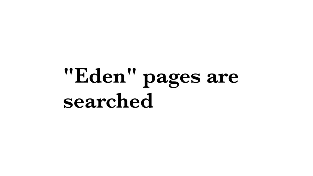 """""""Eden"""" pages are searched"""