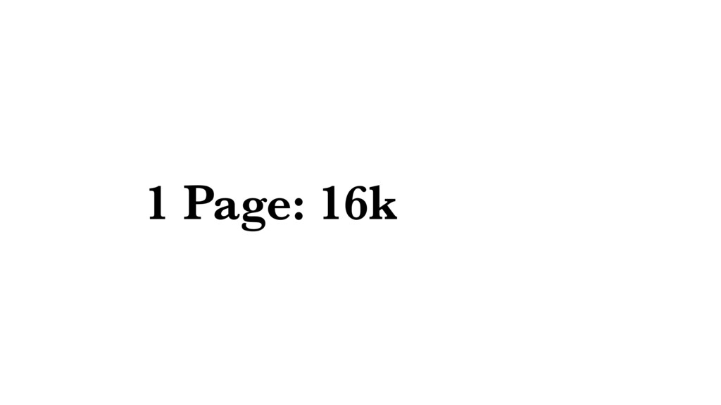 1 Page: 16k
