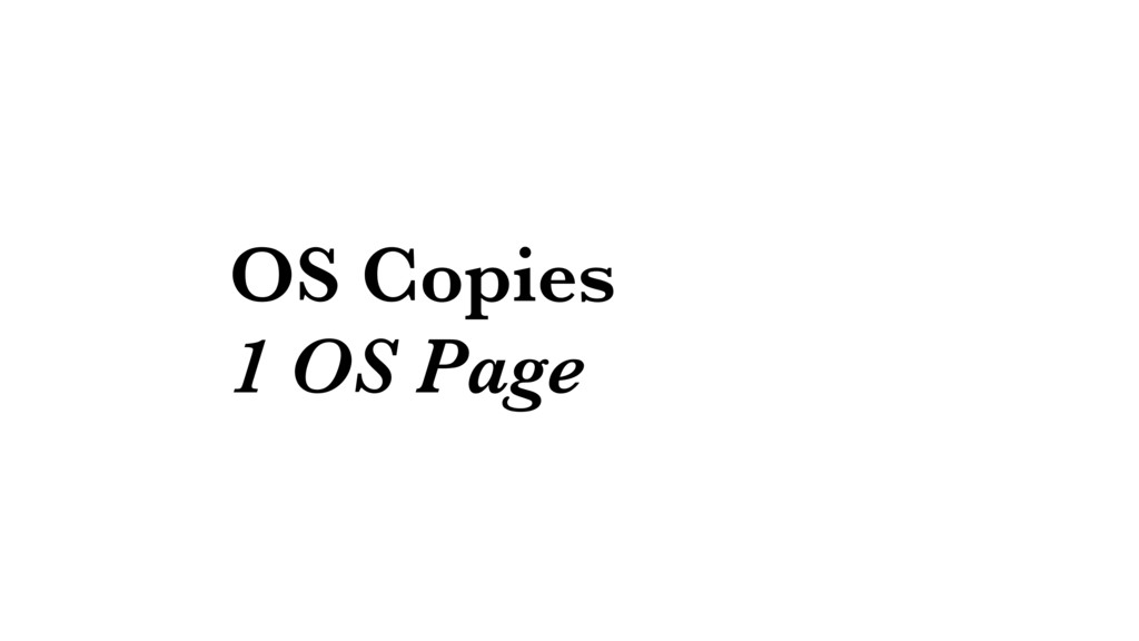 OS Copies 1 OS Page