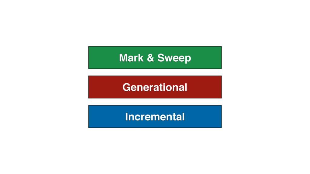 Generational Incremental Mark & Sweep