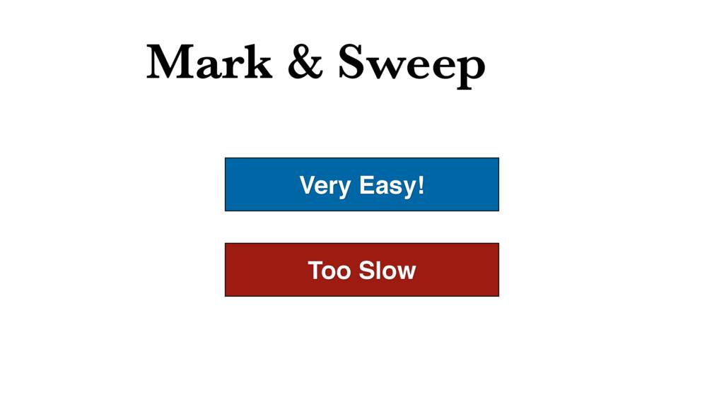 Mark & Sweep Very Easy! Too Slow