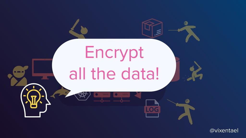 @vixentael Encrypt all the data!
