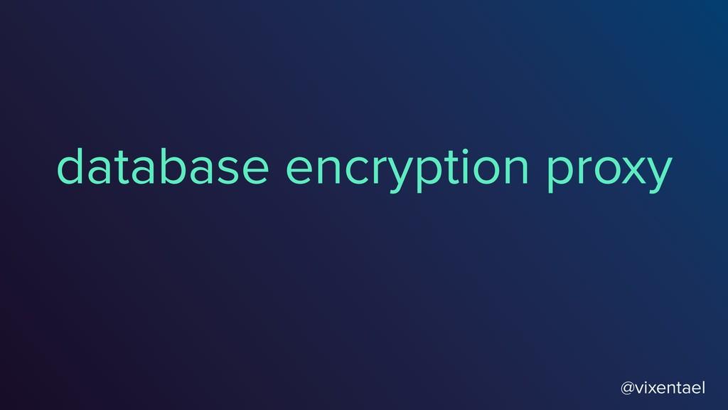 database encryption proxy @vixentael