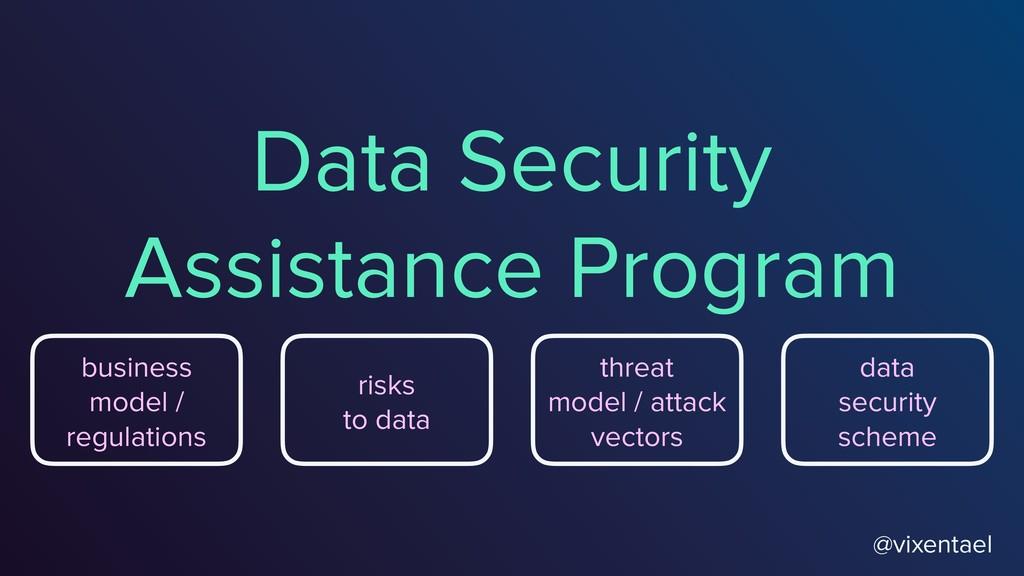 Data Security Assistance Program @vixentael bus...