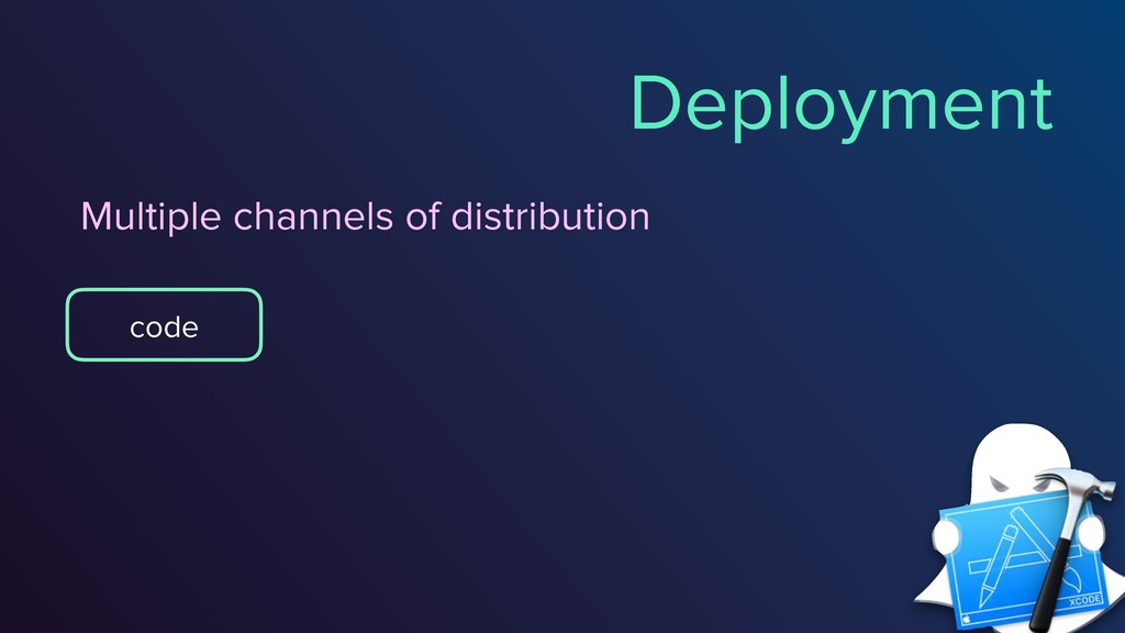 @vixentael Deployment code Multiple channels of...
