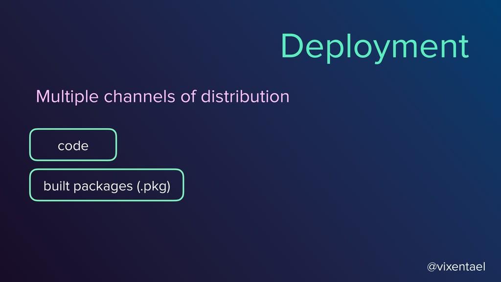 @vixentael Deployment code built packages (.pkg...