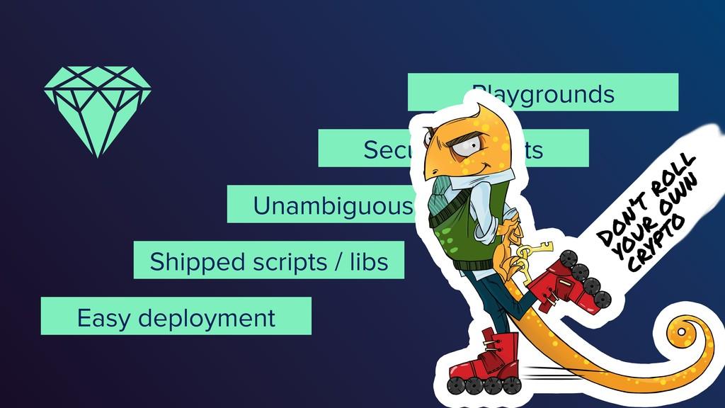 @vixentael Secure defaults Unambiguous APIs Eas...