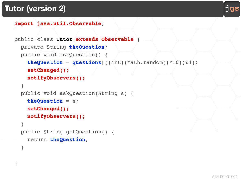 jgs 564 00001001 Student (version 2) import jav...