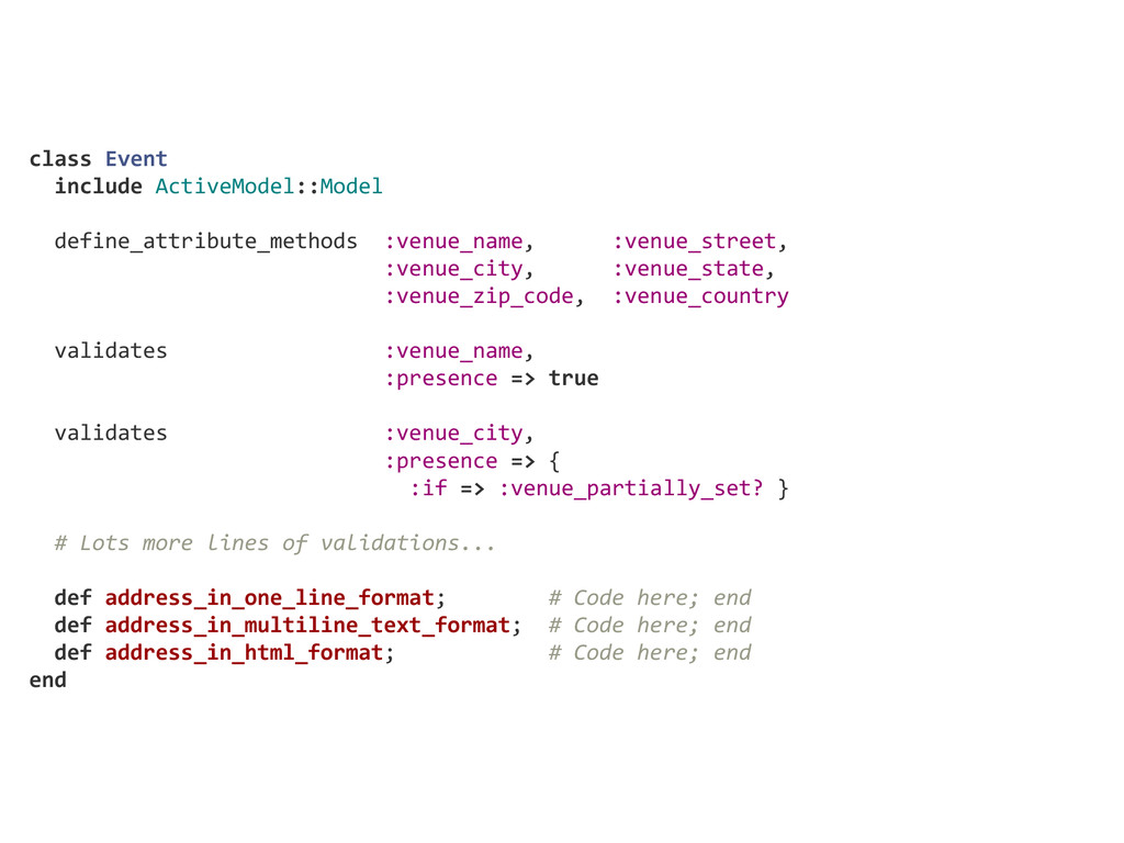 class Event   include ActiveModel::Model  ...
