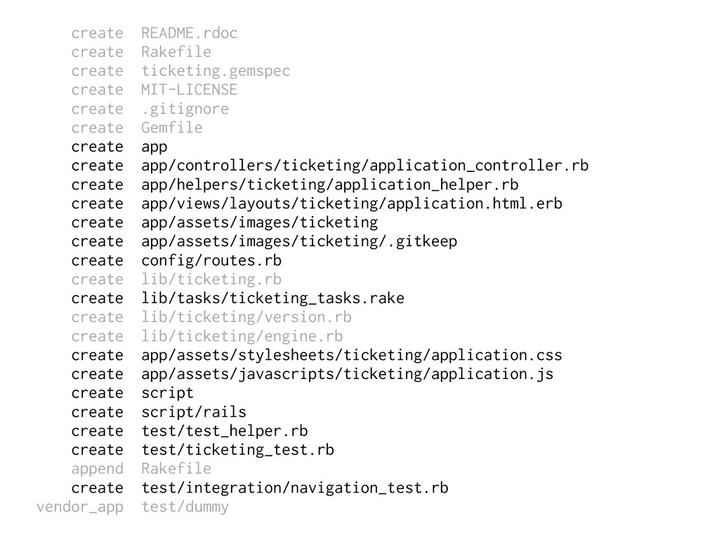 create README.rdoc create Rakefile create ticke...