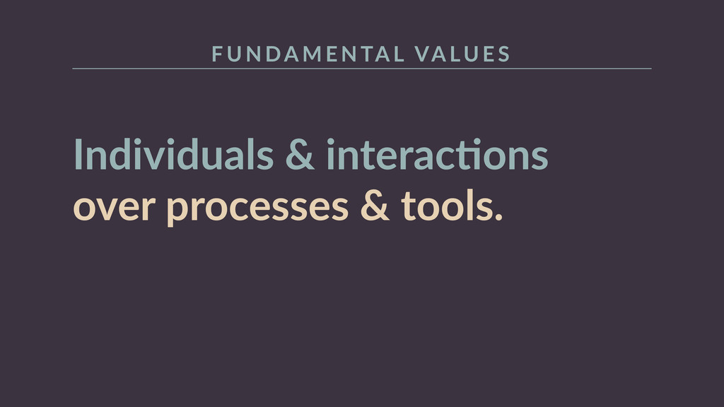 Individuals  &  interacRons   over  processes  ...