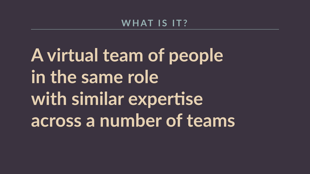 A  virtual  team  of  people   in  the  same  r...