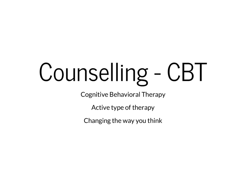 Counselling - CBT Cognitive Behavioral Therapy ...