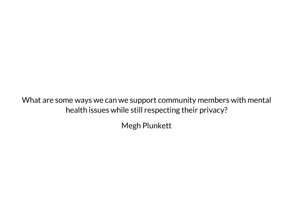 What are some ways we can we support community ...