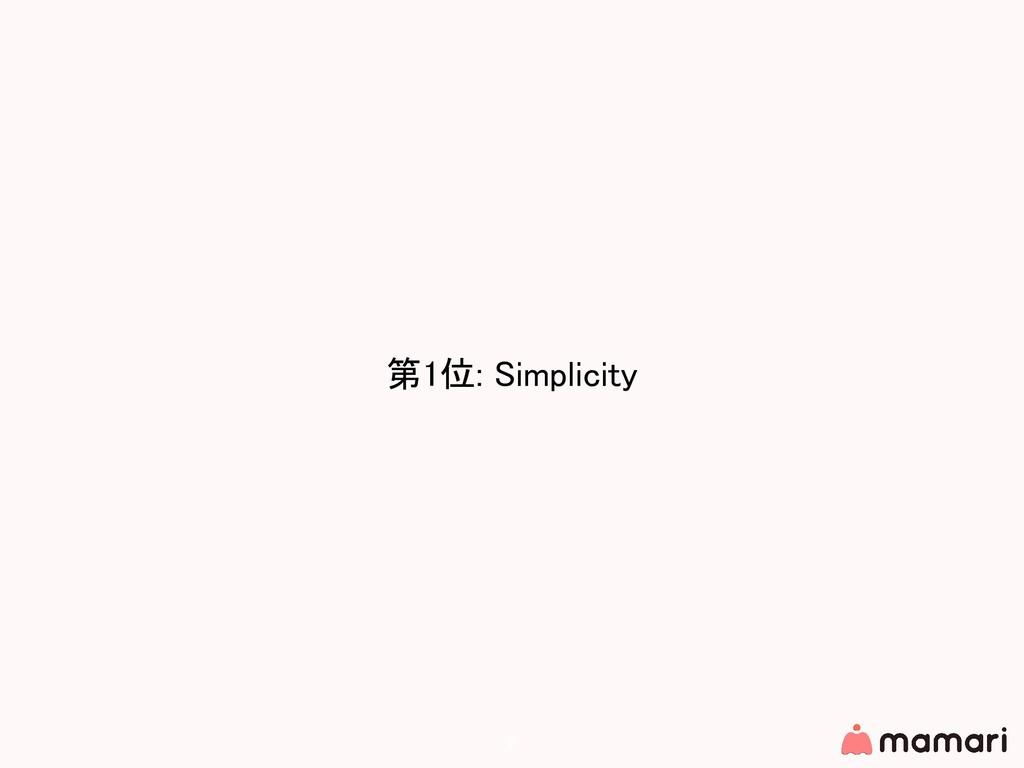 第1位: Simplicity 7