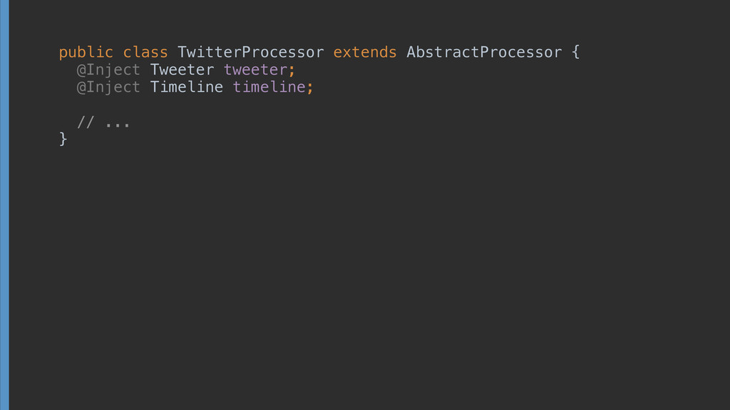 public class TwitterProcessor extends AbstractP...