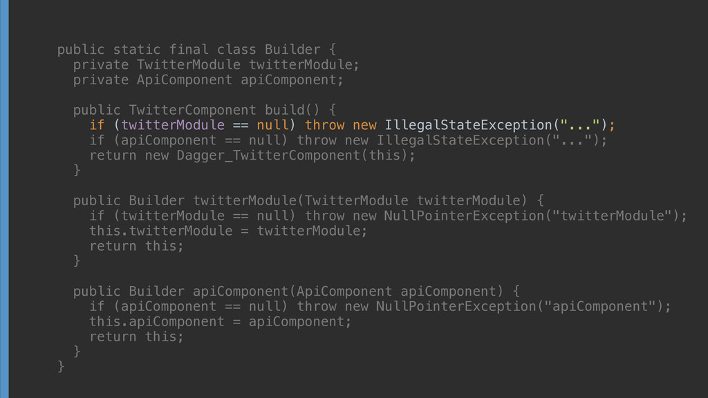 public static final class Builder { private Tw...