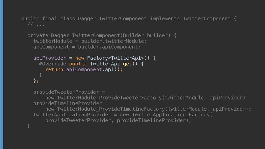 public final class Dagger_TwitterComponent impl...