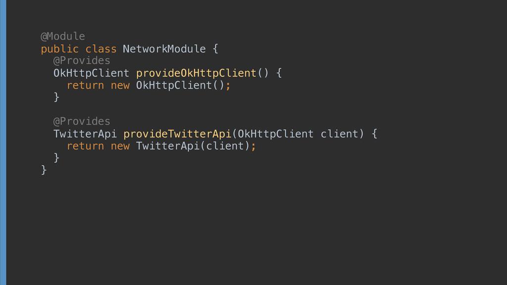 public class NetworkModule {  OkHttpClient ...