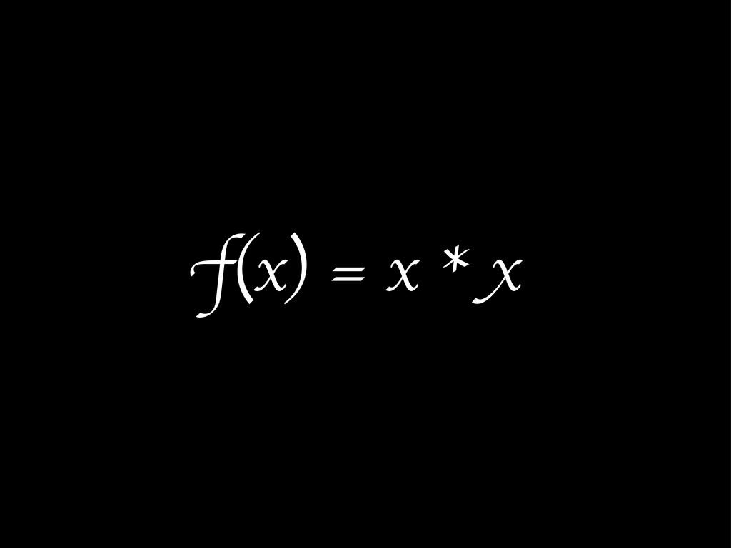 f(x) = x * x