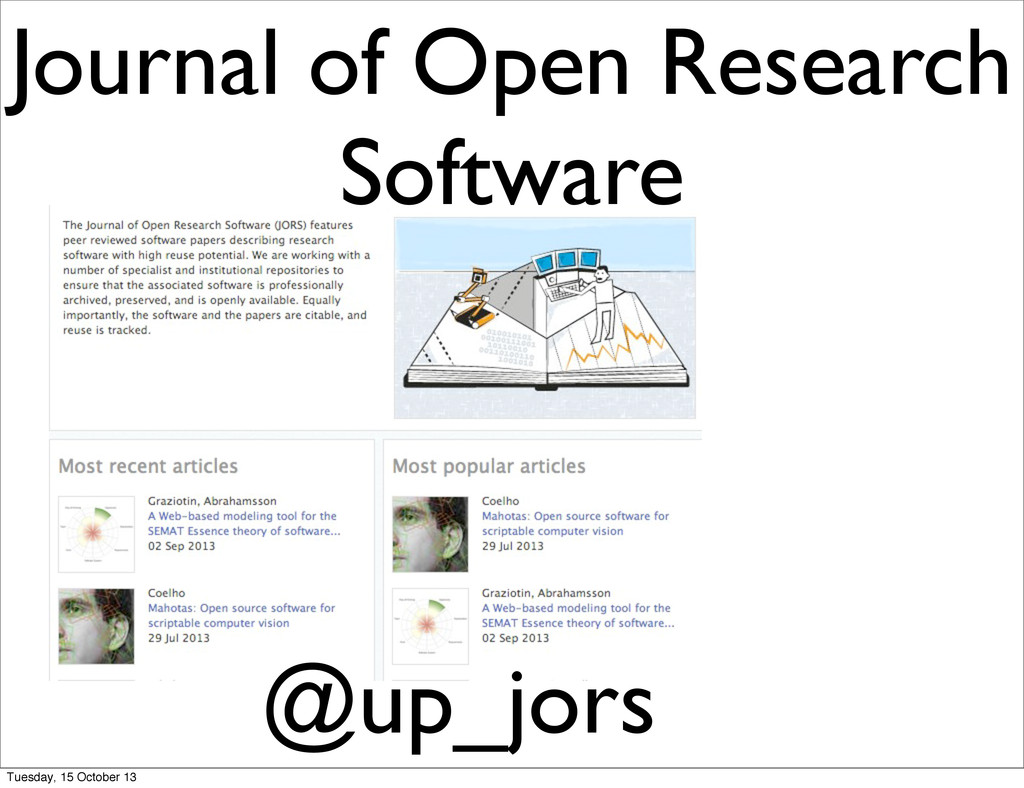 @up_jors Journal of Open Research Software Tues...