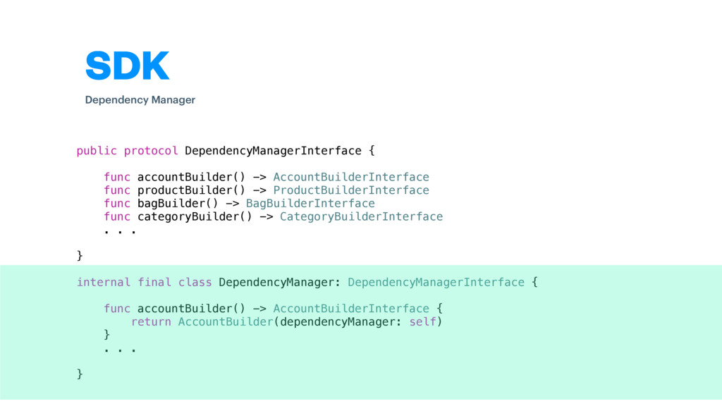 SDK public protocol DependencyManagerInterface ...