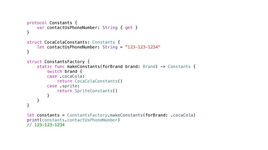 protocol Constants { var contactUsPhoneNumber: ...