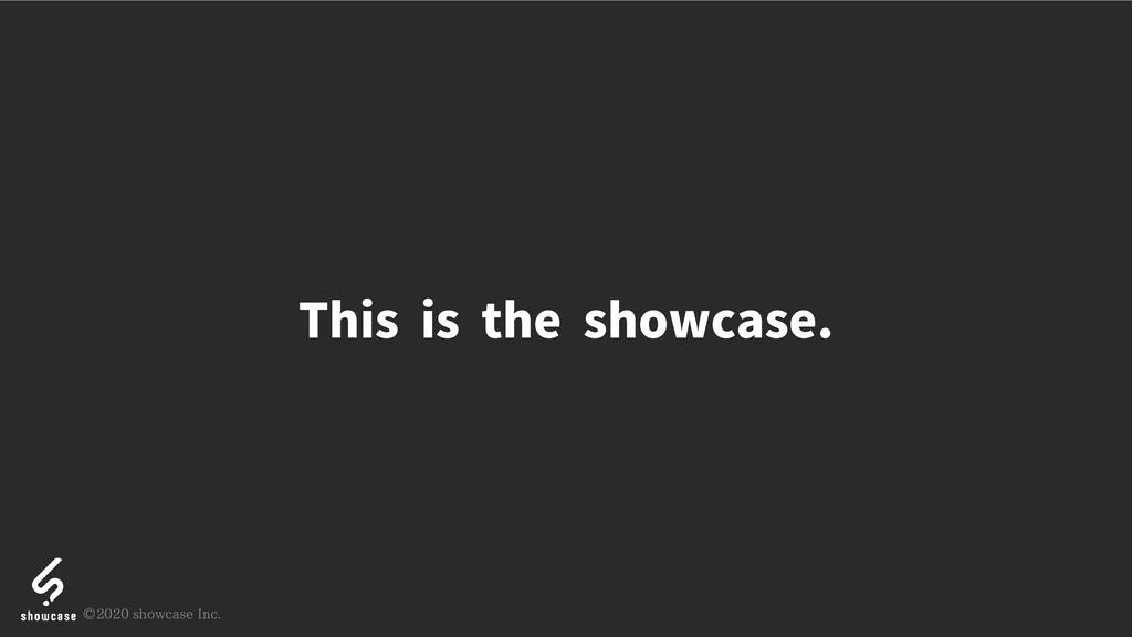 Thisistheshowcase. © 2020 showcase Inc.
