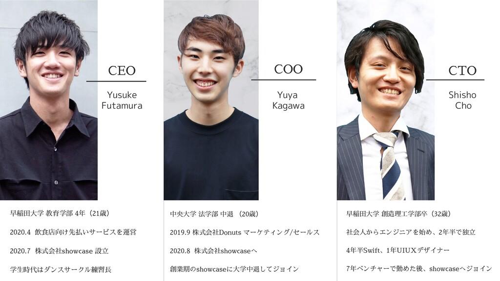 COO CTO CEO Yusuke Futamura Yuya Kagawa Shisho ...